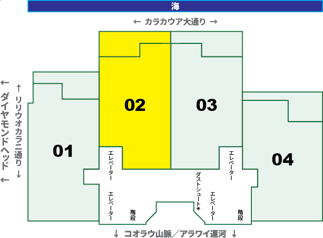 ワイキキビーチタワー:XX02号室