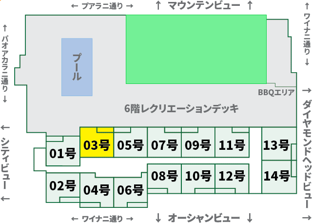 ワイキキサンセット:XX03号室