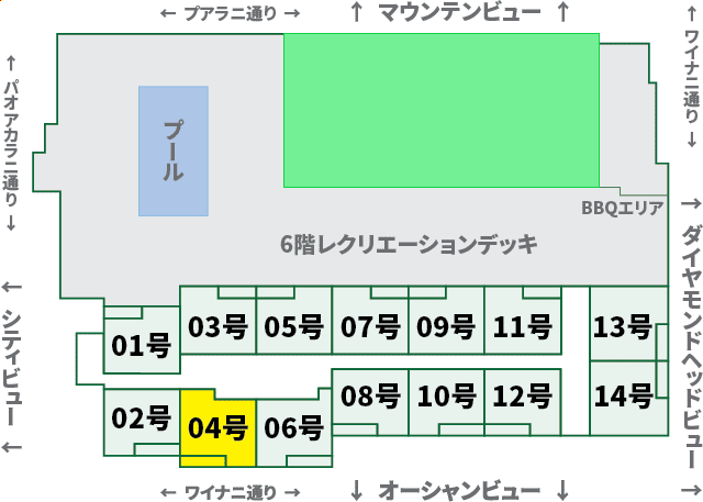 ワイキキサンセット:XX04号室