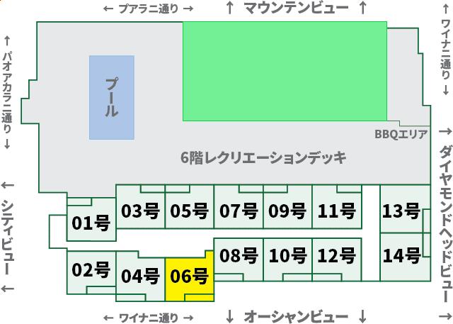 ワイキキサンセット:XX06号室