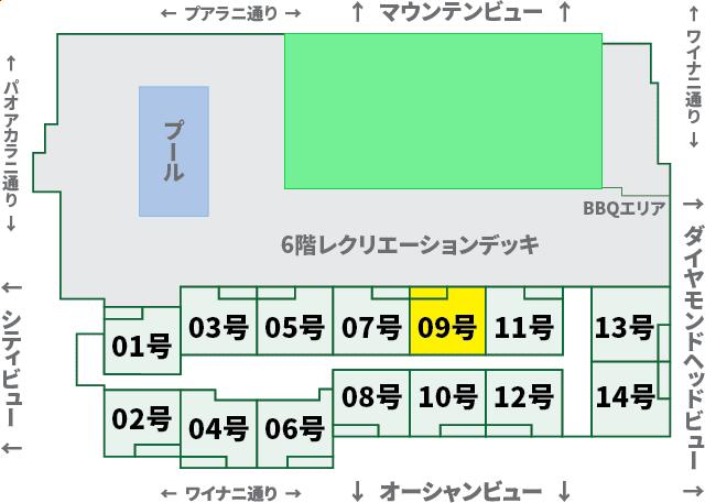 ワイキキサンセット:XX09号室