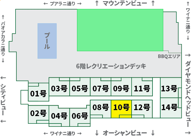 ワイキキサンセット:XX10号室